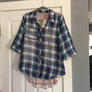 Soft Surroundings NWT size S High-low blouse